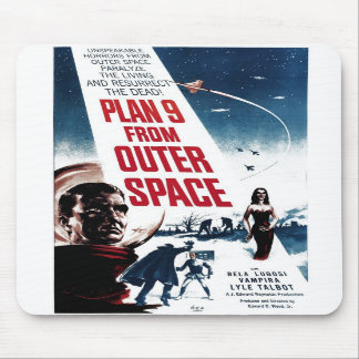 """""""Plan 9 From Outer Space"""" Mousepad"""