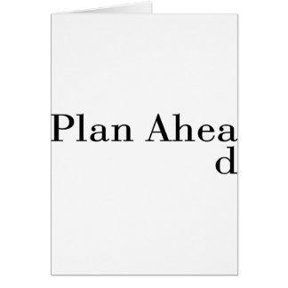 Plan Ahead Card