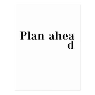 Plan Ahead Dark T-Shirt.png Postcard