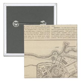Plan, Alaska Yukon Pacific Exposition, Seattle 15 Cm Square Badge