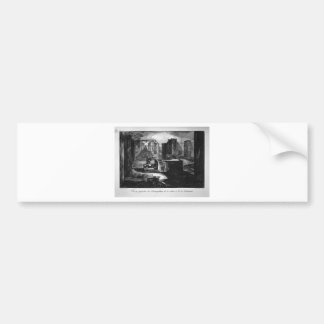 Plan and elevation of a restaurant by Giovanni Bumper Sticker
