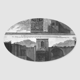 Plan and elevation of the second tavern oval sticker