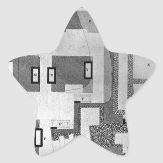 Plan and sections of the Hypogeum of the Scipios Star Sticker