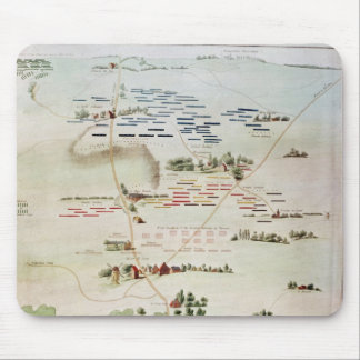 Plan and view of the Battle of Waterloo Mouse Pads