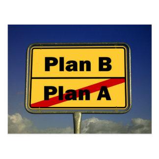 Plan B Postcard