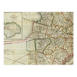Plan of Boston and Charleston Postcard
