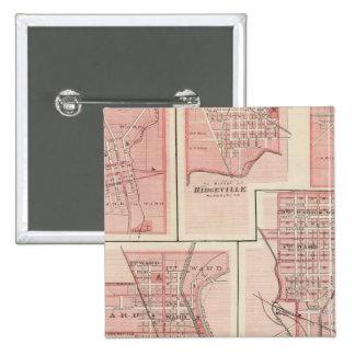 Plan of Cambridge City, Wayne Co with Newport 15 Cm Square Badge