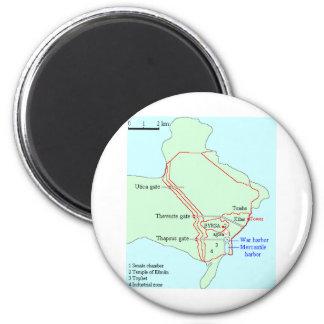 Plan of Carthage 6 Cm Round Magnet