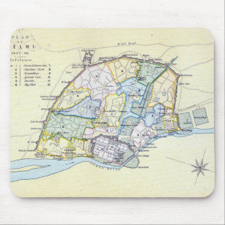 Plan of Delhi 1857-58, engraved by Guyot & Mouse Pad