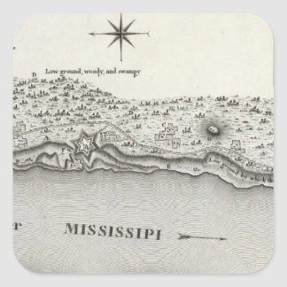 Plan Of Fort Baton Rouge Square Sticker