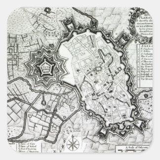 Plan of Lisle, 1736 Square Sticker