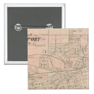Plan of Logansport, Cass Co 15 Cm Square Badge