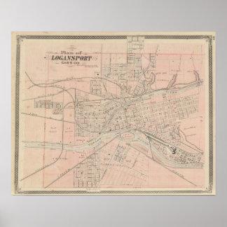 Plan of Logansport, Cass Co Poster