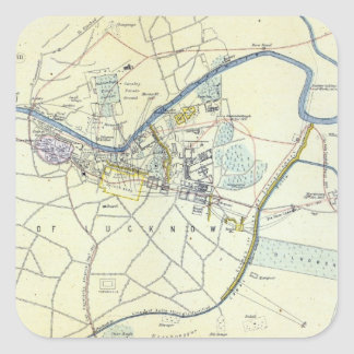 Plan of Lucknow showing Operations Square Stickers
