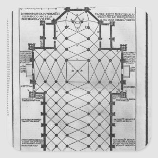 Plan of Milan Cathedral Stickers