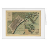 Plan of New Orleans Map 1759 Greeting Card