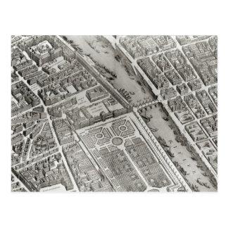 Plan of Paris, known as the 'Plan de Turgot' Postcard