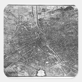 Plan of Paris, known as the 'Plan de Turgot' Sticker