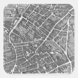 Plan of Paris Sticker