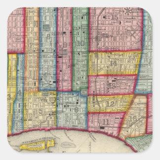 Plan Of Philadelphia Square Stickers