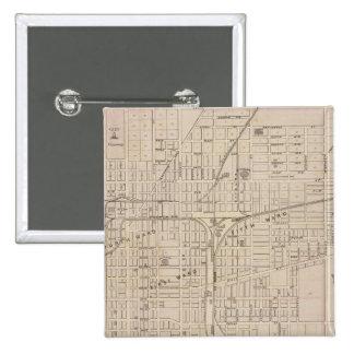 Plan of Terre Haute, Vigo Co 15 Cm Square Badge