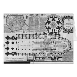 Plan of the Abbey Church of St. Denis, 1705 Greeting Card