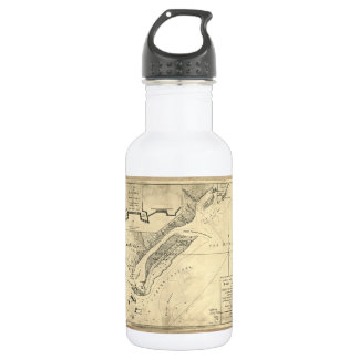 Plan of the Attack Fort Sulivan Map (June 28 1776) 532 Ml Water Bottle