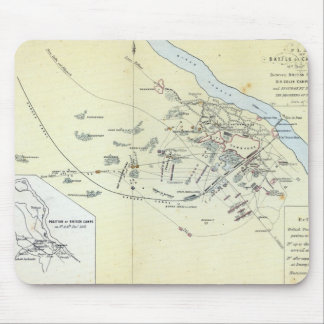 Plan of the Battle of Cawnpoor Mouse Pad