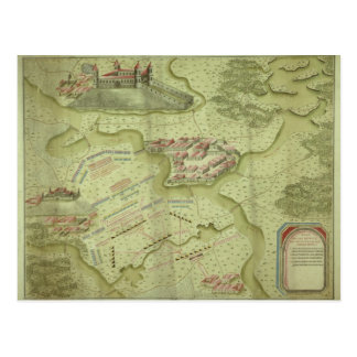 Plan of the Battle of Mollwitz Postcard