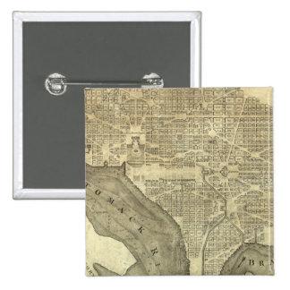 Plan of the City of Washington 15 Cm Square Badge