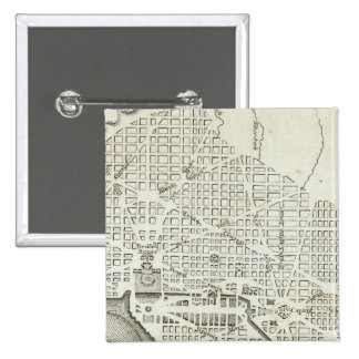 Plan of the City of Washington 15 Cm Square Badge