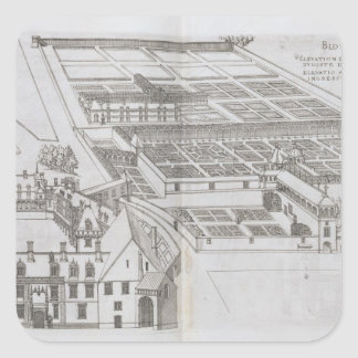 Plan of the enclosed gardens and Chateau de Gaillo Square Sticker