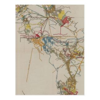 Plan of the New Almaden Mine Postcard