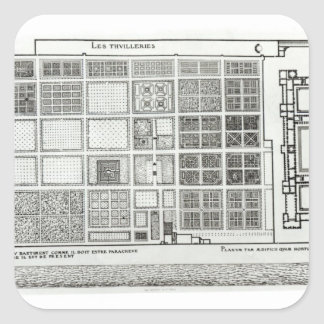 Plan of the Palace and Garden Stickers