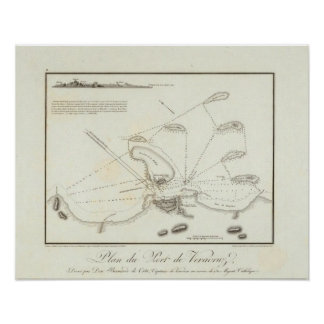 Plan of the Port of Veracruz Print