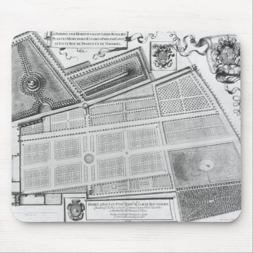 Plan of the Royal Garden Mousepads