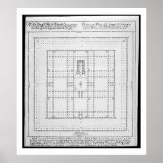 Plan of the Temple of Solomon, Jerusalem, from 'En Poster
