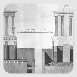 Plan of the tomb of Mamia and outbuildings Square Sticker
