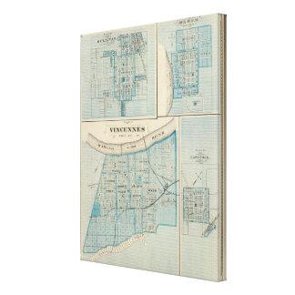 Plan of Vincennes, Knox Co with Sullivan Canvas Prints