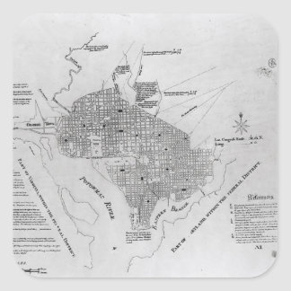 Plan of Washington D.C. Sticker