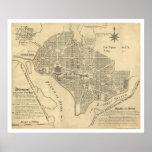 Plan of Washington DC Map 1792 Print