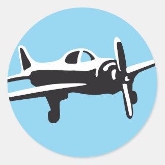 plan round sticker