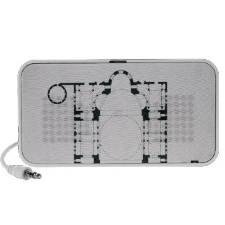 Plan to show the orientation of the narthex iPhone speaker