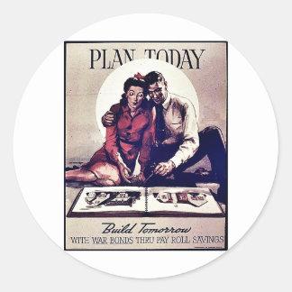 Plan Today Round Sticker