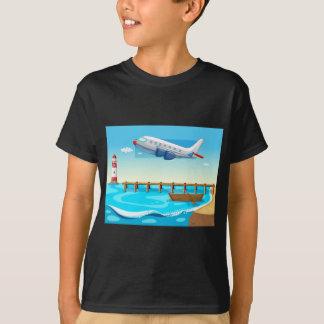 Plane and beach T-Shirt