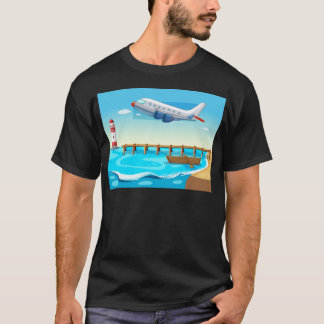 Plane and beach T-Shirt