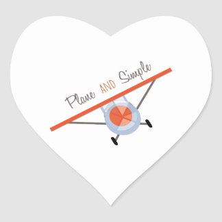 Plane and Simple Heart Sticker