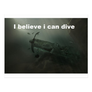 plane believe it divine edge postcard