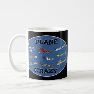 PLANE CRAZY BASIC WHITE MUG