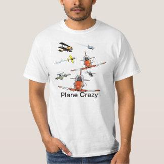 Plane Crazy Cartoon Aviation Humor Shirt